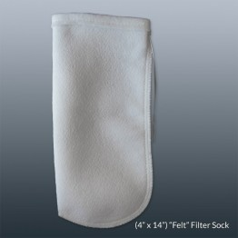 Felt Filter Sock 4 x 14in With Draw String