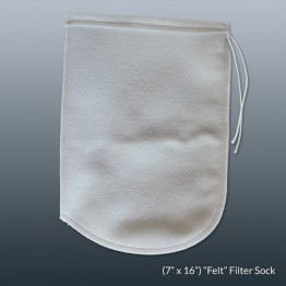 Felt Filter Sock 7 x 16in With Draw String